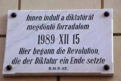 1989-es forradalmi emlektabla