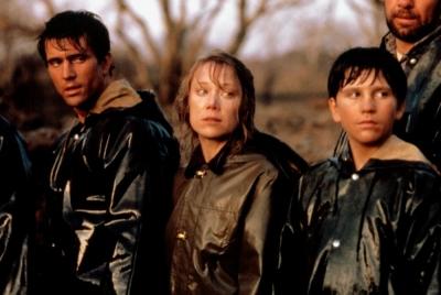THE RIVER, Mel Gibson, Sissy Spacek, Shane Bailey, 1984