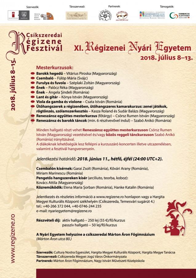 plakat_Csikszeredai Regizenei Nyari Egyetem